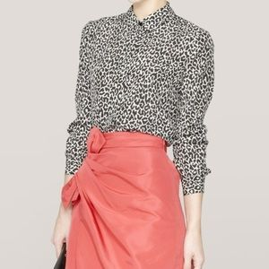 Theory Leopard Print Top